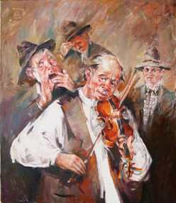 The Violin player-70x70cm - EURO 1390